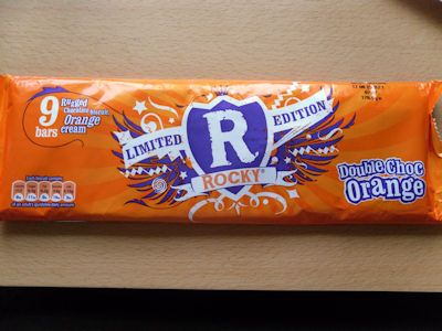 Limited Edition Double Choc Orange Rocky bars