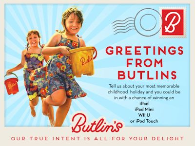 Win an iPad, Wii U, iPad Mini or iPod Touch with Butlins