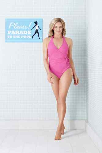 Gabby Logan Speedo Sculpture