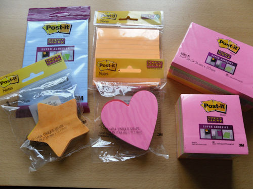 Write a Note with Post-It Notes