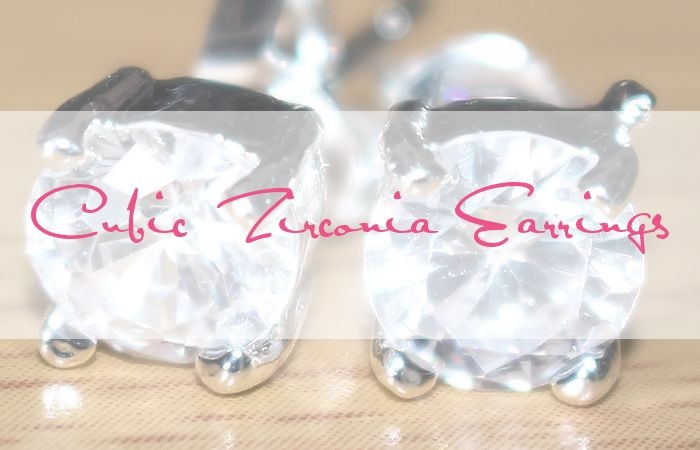 925 Stamped Sterling Silver Cubic Zirconia Stud Earrings #cubic