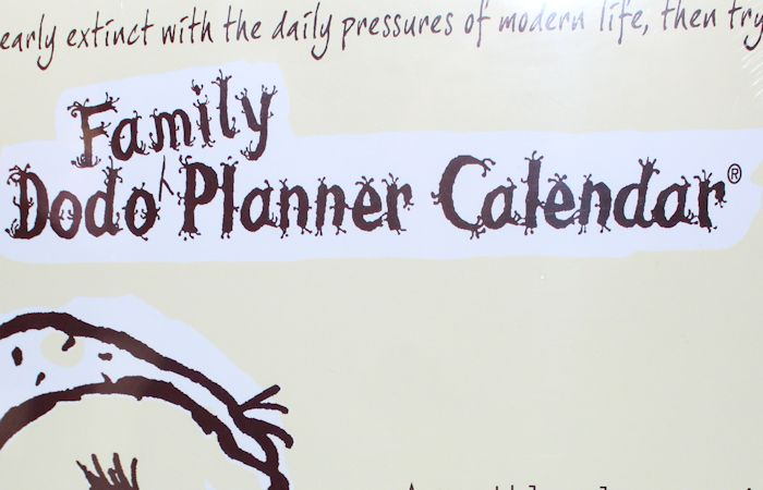 Family Dodo Planner Calendar #NatStatWeek