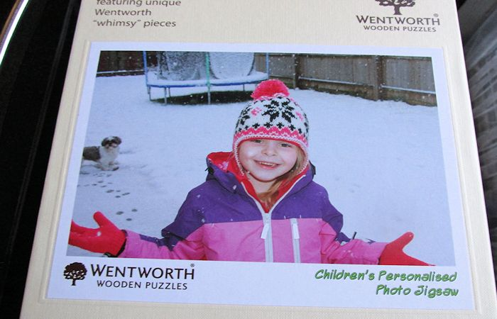 Children's Personalised Photo Jigsaw by Wentworth  Wooden Puzzles