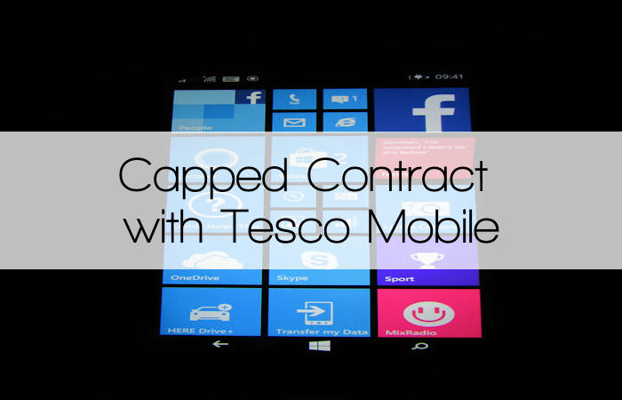 Capped Contract with Tesco Mobile