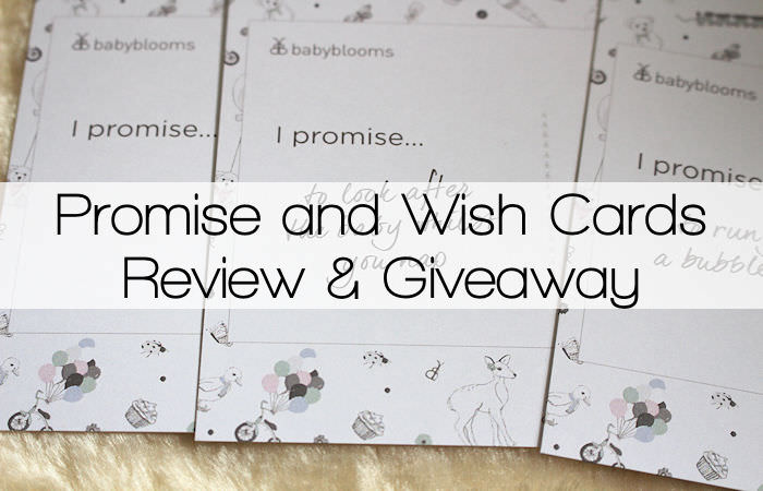 Promise and Wish Cards from Babyblooms Review & Giveaway