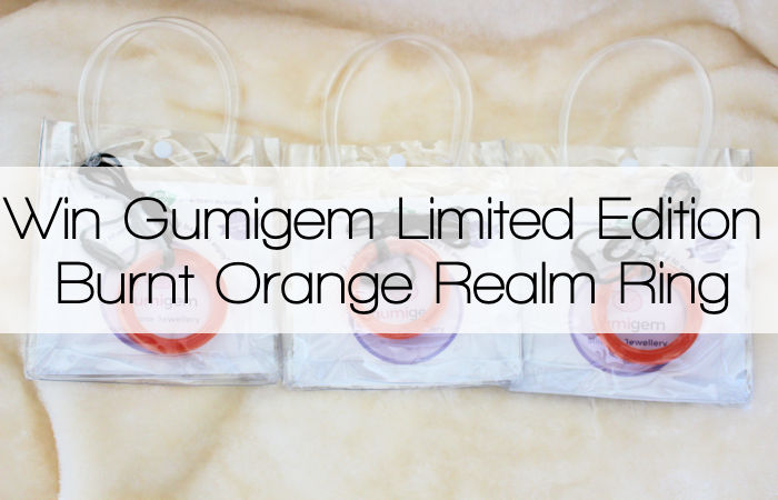 Gumigem Limited Edition Burnt Orange Realm Ring Giveaway