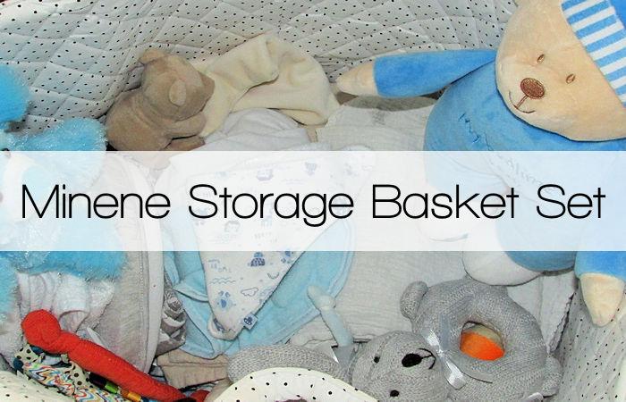 Minene Black & White Star Storage Basket Set