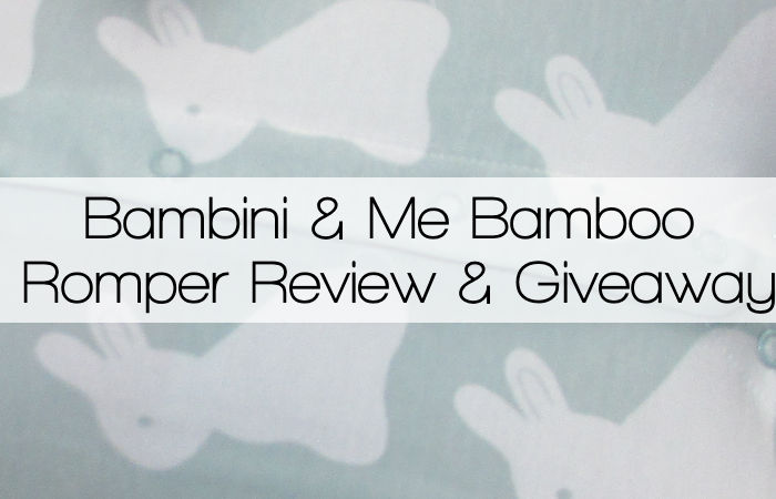 Bambini & Me Bamboo Romper Review & Giveaway