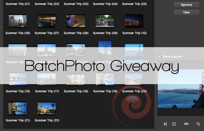 BatchPhoto Giveaway
