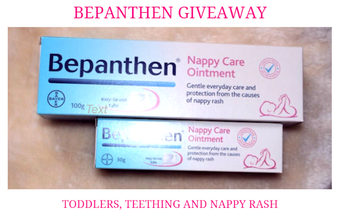 Bepanthen Giveaway – Toddlers, Teething and Nappy Rash