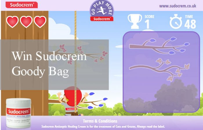 Win Instant Prizes with Sudocrem's Go Play More Game + Blog Giveaway