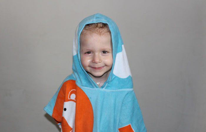 Noah's Ark Hooded Towel Poncho Zander hood