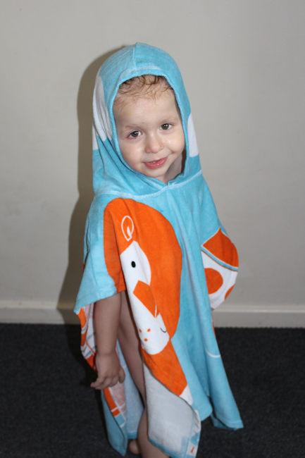 Noah's Ark Hooded Towel Poncho side