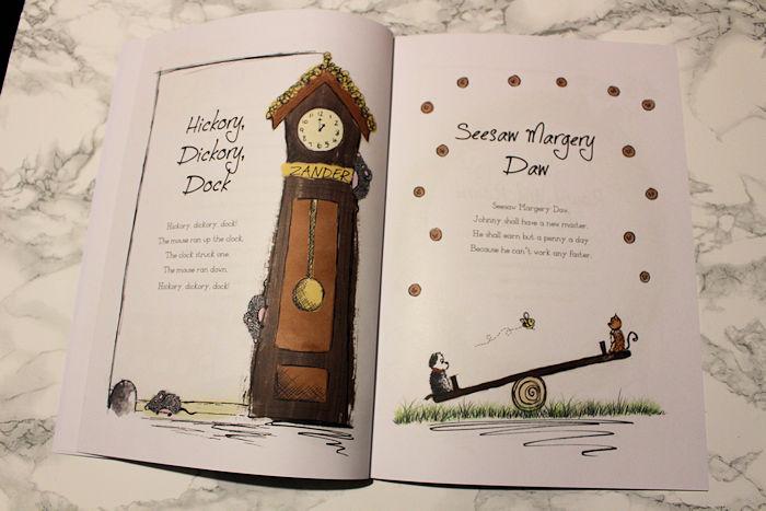 My Book of Nursery Rhymes Clock personalised