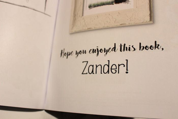 My Book of Nursery Rhymes  personalised message