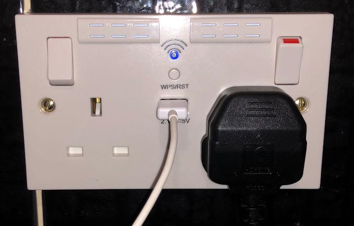 Installed WiFi Socket