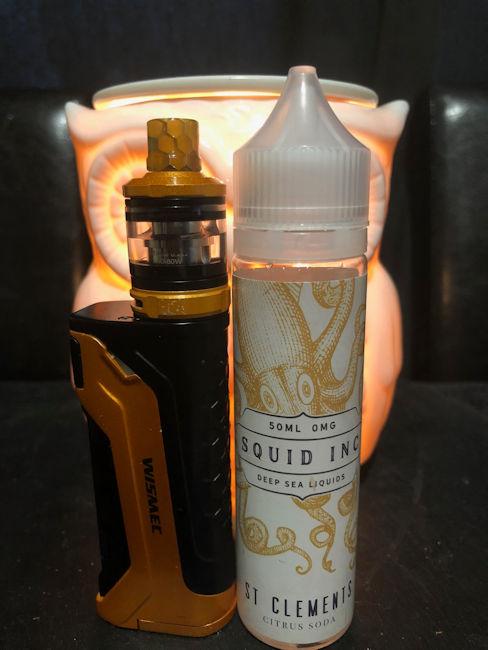St Clements Squid Inc e-liquid with Wizmec CB80