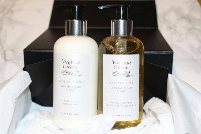 Virginia Coram Bathtub Gift Set bottles