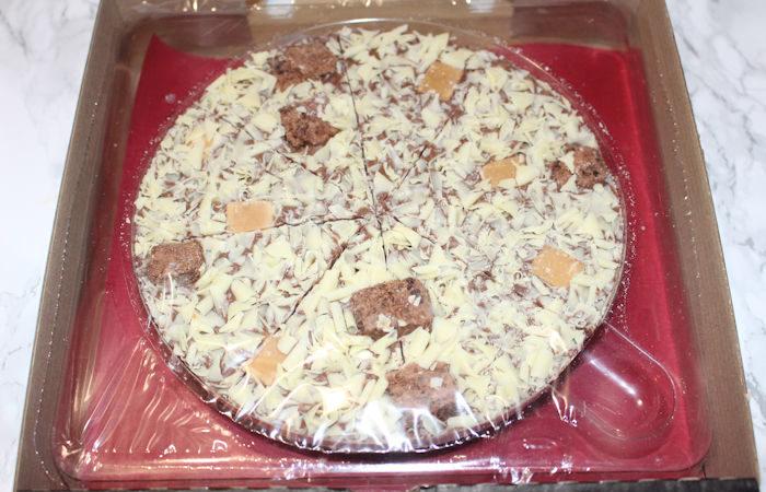 Chocolate Pizza inside box