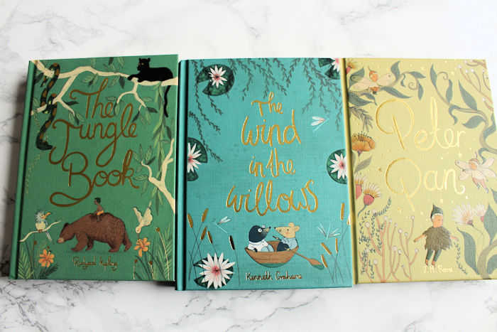 Collectors Editions The Wind in the Willows, Peter Pan, The Jungle Book Front Covers