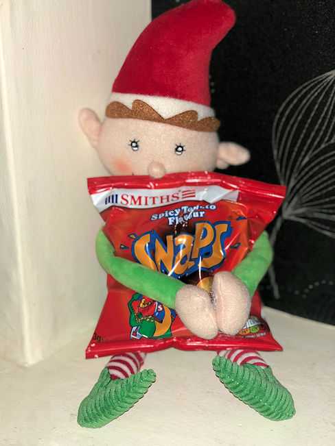 christmas elf with snaps