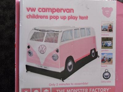 C&er Van Tent Box & VW Camper Van Tent - Pink