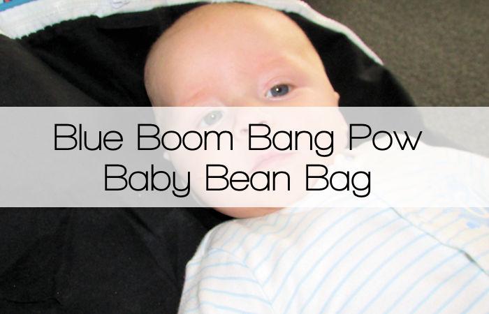 Blue Boom Bang Pow Baby Bean Bag from Bean Bag Planet